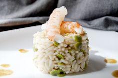 Risotto primaverile, con fave fresche e gamberi al vapore   L'idea Pellegrina foodblog