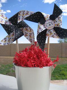 Mickey pinwheels- Mickey Party....FunCreationsByElaine on Etsy!