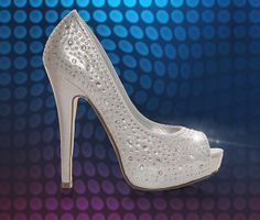 Women's Delicious Silver Peep Toe Pumps at Shoe Carnival.