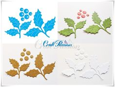 Set of Craft Dies Holly Leaves Craft Passion