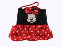 Black and Red Polka Dot Minnie Mouse Pouch Bag- Disney Character Mini Purse *** Click image to review more details.
