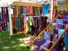 How do you like this Booth? (I made it myself) - Art Fair Insiders Craft Show Booths, Craft Booth Displays, Display Ideas, Boutique Interior, A Boutique, Scarf Display, Scarf Storage, Market Displays, Cleaning Walls