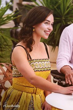 My favourite tribal print yellow dress. | Me Before You Movie | In Theaters June 3