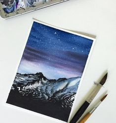 "4,291 次赞、 54 条评论 - JJ (@jj_illus) 在 Instagram 发布:""Snowy mountain ✨ (SOLD)"""