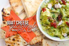 Goat Cheese Guacamole w/ Pita Chips