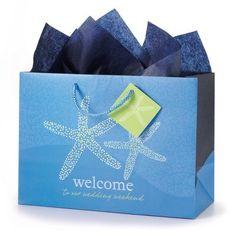 Seaside Romance Wedding Weekend Gift Bag Set from Exclusively Weddings… Wedding Gift Bags, Welcome To Our Wedding, Gifts For Wedding Party, Party Gifts, Wedding Favors, Wedding Ideas, Wedding Planning, Wedding Fun, Party Bags