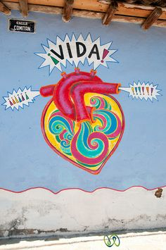 Graffiti Heart in San Cristobal de las Casas, Mexico
