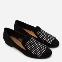 Image 7 of FLAT LEATHER SHOES WITH SMALL STUDS from Zara