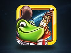 Space Frog Final App Icon + Process