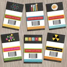 Science Party Badges Id Lanyard Scientists Badge Name Tag