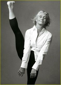 i hope i'm this flexible when i get older. Rock it girl!