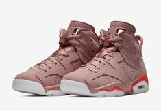 cdbdfd0d519f7d The Aleali May Air Jordan 6 Millennial Pink comes dressed in a Rust  Pink Bright Crimson colorway with a release date set for