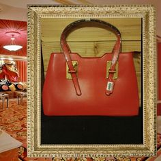Valentine Date Bag Thick leather like roomy shoulder bag, gold-toned hardware, top zip closure, 2 large compartments, rich burgundy linings, interior side zipper pocket, cell phone compartment, exterior back zipper pocket, 8 inch handle drop, detachable adjustable long shoulder strap, Measurements 14x10x5.5 inches Bags Shoulder Bags