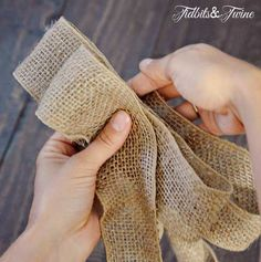 TidbitsTwine How to Make a Bow Step 6 DIY Inexpensive Fall Wreath and Fancy Bow