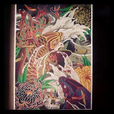 Started in Portugal finished in Ireland #paint #watercolour #japanesetattoo #hannya #koi #crysanthemus #skull #ireland #dmira