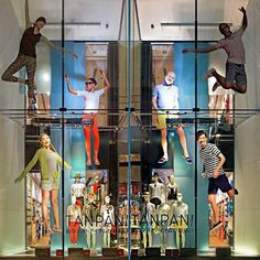 "UNIQLO,Ginza,Japan, ""Jumping for Joy in there Tan Pan!?"", pinned by Ton van der Veer"