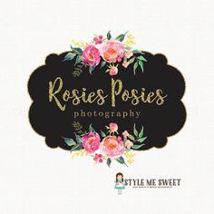 peony logo design flower logo design event by stylemesweetdesign