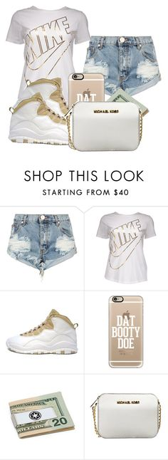 """Work Work Work"" by iiammiakay ❤ liked on Polyvore featuring OneTeaspoon, NIKE, Retrò, Casetify and MICHAEL Michael Kors"