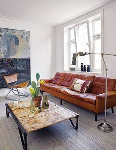 Leather sofa / Danish