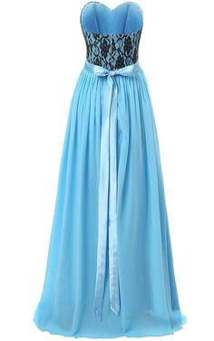 Besswedding Floor Length Chiffon Evening Dress for Women Blue Size Cs -- To view further for this item, visit the image link. (This is an affiliate link and I receive a commission for the sales) #FormalDress