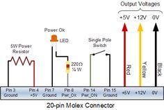 20-pin molex connections