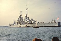 """apostlesofmercy: """" apostlesofmercy: """" The last battleship ever built, HMS Vanguard at Portsmouth sometime during 1957. When she reluctantly bowed out 3 years later, in many ways so too did the navy she served. """" And in happier days. """""""