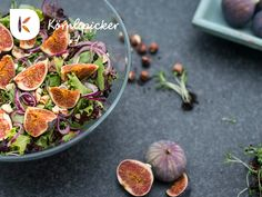 alad with figs, cresses, lime and hazelnuts from photo by