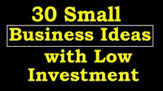 high profit and low investment business idea small business idea
