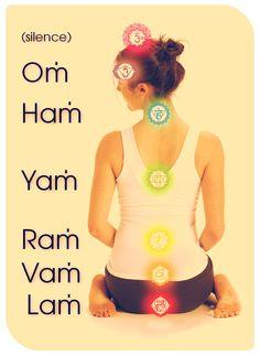 °Chakra Mantras good for japan meditation Yoga Kundalini, Hatha Yoga, Pranayama, Ayurveda, Tantra, Yoga Inspiration, Les Chakras, Mudras, Yoga Posen