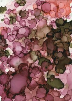 le-temps-plus-que-parfait: Rainblossoms. Alcohol inks on clayboard, by Andrea Pramuk.