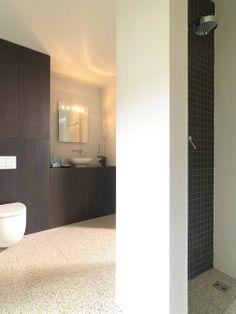 Welcome to Artistic Tile Terrazzo Flooring, Grey Flooring, Bathroom Flooring, Bathroom Red, Modern Bathroom, Small Bathroom, Bathroom Ideas, Neutral Bathroom Colors, Artistic Tile