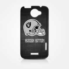 NFL Raider Nation Oakland Raiders Football HTC One X Hardshell Case Cover GEEK