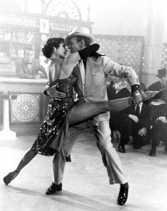 "Fred Astaire and Cyd Charisse in ""The Band Wagon"" scene titled 'The Girl Hunt Ballet' ~ A weird but fun scene."