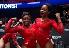 Simone Biles and Gabby Douglas