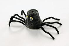 Halloween Clay Pot Spider- do with egg carton Instead!