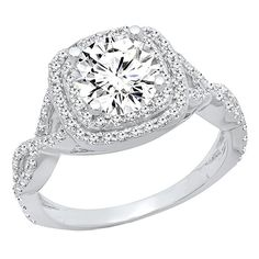 9ea199369 DazzlingRock Collection GIA CERTIFIED 2.10 Carat (ctw) 14K White Gold Round  Cut Diamond Ladies
