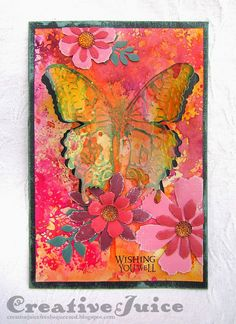 Lisa Hoel - Compendium of Curiosities Challenge #22 - Layered Butterfly using Tim Holtz, Ranger, Idea-ology, Sizzix and Stamper's Anonymous products; Mar 2015