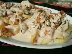 Kebab s jogurtom a hranolkami (fotorecept) - recept Potato Salad, Food And Drink, Cheese, Ethnic Recipes, Kebabs, Google, Beauty, Diet, Food And Drinks