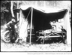 Early radiologic exam with mobile x-ray instrument  of the army