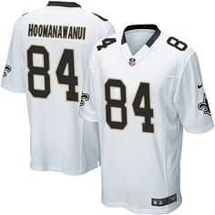 Men's Nike New Orleans Saints #84 Michael Hoomanawanui Game White NFL Jersey