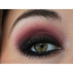 Red and Purple Smokey Eye Beauty found on Polyvore