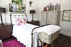 French bedroom for a teen girl