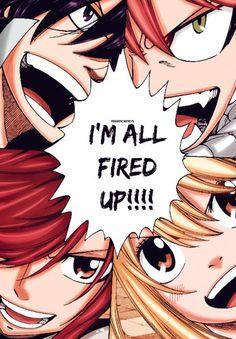 Gray, Natsu, Erza and Lucy - Fairy Tail
