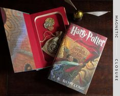 Harry Potter Gifts, Harry Potter Books, Mailing Packages, Secret Safe, Book Safe, Chamber Of Secrets, The Secret Book, Library Card, Bookbinding