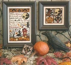 Prairie Schooler When Witches Go Riding - Cross Stitch Pattern. When witches go riding and black cats are seen, the moon laughs & whispers 'tis near Halloween. Halloween Patterns, Halloween Design, Fall Halloween, Halloween Quilts, Halloween Costumes, Counted Cross Stitch Patterns, Cross Stitch Designs, Cross Stitch Embroidery, Fall Cross Stitch