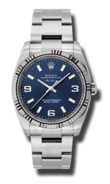 114234 Blao Rolex Air-King oro blanco acanalado Bisel