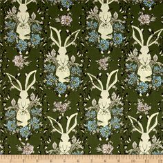 Art Gallery Forest Floor In the Thicket Dusk from @fabricdotcom  Designed by Bonnie Christine for Art Gallery Fabrics, this cotton print is perfect for quilting, apparel and home decor accents. Art Gallery Fabric features 200 thread count of finely woven cotton. This whimsical nature inspired collection will take you on an adventure through the woods. Colors include green, blue, pink, brown, yellow and ivory.