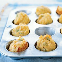 This recipe also makes a dozen muffins in a standard muffin tin; bake 17 minutes or until golden brown. You also can double the recipe and freeze the extra muffins for up to one month. If you do this, prepare the muffins in two batches so the baking powder doesn't lose its effectiveness while the extra batter waits for the first batch to be turned out of the pans.