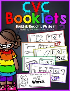 CVC Booklets!  Build it, Read it, Write it!  Such a FUN and hands-on way to work with 23 of the most common CVC word families!