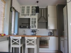 Our kitchen Ikea Stat cabinets butcher block counters Ikea farm sink  For the Home